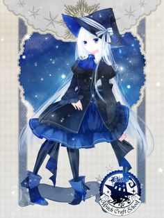 anime girl as a witch