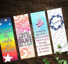 Luna Lovegood Printable Bookmarks |  Colorful Hogwarts Bookmarks |  Ravenclaw Bookmark | Set of 4 Printable Harry Potter Bookmarks