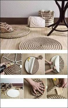 DIY rope crafts are all over the internet look marvelous. Explore and read through the best rope crafts and choose to take up one fun project now. Diy Crafts For Home Decor, Diy Crafts To Sell, Diy Crafts For Kids, Diy Room Decor, Easy Crafts, Easy Diy, Gift Crafts, Outdoor Crafts, Summer Crafts