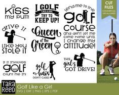 Golf Tips: Golf Clubs: Golf Gifts: Golf Swing Golf Ladies Golf Fashion Golf Rules & Etiquettes Golf Courses: Golf School: Girls Golf, Ladies Golf, Women Golf, Golf Etiquette, Golf Training Aids, Golf Party, Perfect Golf, Putt Putt, Golf Lessons