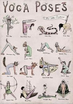 What's your favorite yoga pose in this adorable illustration? - What's your favorite yoga pose in this adorable illustration? What's your favorite yoga pose in this adorable illustration? Yoga Fitness, Health Fitness, Health Yoga, Fitness Men, Gut Health, Pilates Workout, Pilates Yoga, Kids Workout, Beginner Yoga Workout