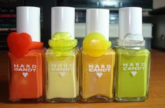 Hard Candy Nail Polishes - Citrus ][ I had the orange one, Navel. Mom got it for me at up against the wall in 1996.