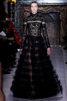 there is something great about the tulle ruffles on the skirt. Valentino Couture  SS 2013
