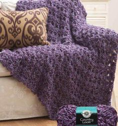 Crochet Cluster Afghan - 60 minute craft. If it honestly takes only 60 minutes I have to make it.  <3
