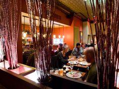 Piñons restaurant Aspen interior with people