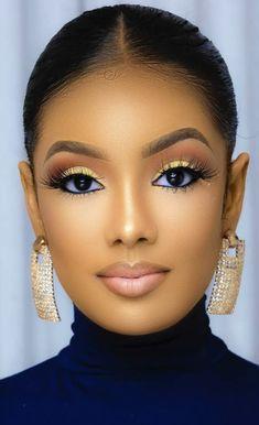 Makeup For Black Skin, Black Girl Makeup, Girls Makeup, Maquillage Yeux Cut Crease, Maquillage Black, Cute Makeup, Gorgeous Makeup, Makeup Looks, Flawless Makeup