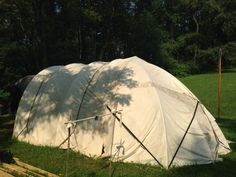 Building A Bender for Pennsic: A DIY Tent Using a Timeless Design Yurt Camping, Outdoor Camping, Camping Stuff, Family Camping, Outdoor Fun, Outdoor Gear, Tent Living, Shelter Tent, Diy Tent