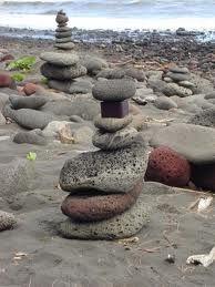 Sea swept cairn.
