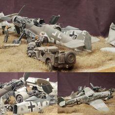 Graveyard Planes 1/48 diorama. Modeler Kay Koglin ... #Diorama #Miniature #Model #ScaleModel #Vignettes