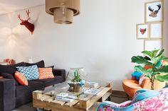 Todo integrado en 32m2  Ubicado en un primer piso con patio en pleno barrio de Palermo, el hogar de Pablo es un monoambiente claramente sectorizado.  /Javier Picerno