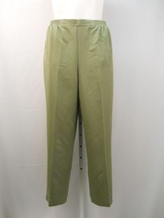 Alfred Dunner Olive Green Proportioned Medium Straight Legs Causal Pants Size 20 #AlfredDunner #CasualPants