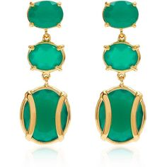 Alexandra Alberta  - Lexington Green Chalcedony Earring (€345) ❤ liked on Polyvore featuring jewelry, earrings, green jewelry, 18 karat gold jewelry, 18k jewelry, chalcedony jewelry and chalcedony earrings