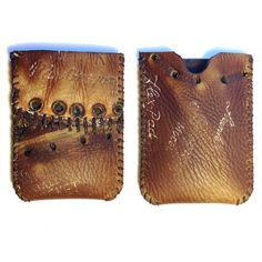 Repurposed Baseball Glove Wallet by Salt River Leather on Etsy