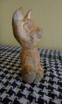 Šoška kočky, dřevo lípa.