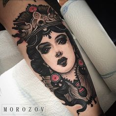 Tattoos are popular now more than ever. Oldschool Tattoos, Badass Tattoos, Girl Tattoos, Tattoos For Women, Awesome Tattoos, Tattoo Girls, Traditional Tattoo Sketches, Neo Traditional Tattoo, American Traditional