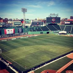 Fenway Park turned into a soccer field  boston Track Team 53d0e7607