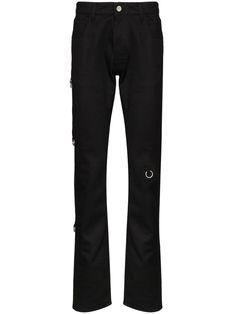 Raf Simons Ring-embellished Slim-fit Jeans In Black Youth Culture, Raf Simons, Black Jeans, Women Wear, Sweatpants, Slim, Mens Fashion, Detail, Fitness