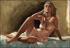 erosart: Seductive pulp cover by the American artist Ernest Chiriaka Pulp Fiction Art, Pulp Art, Good Morning Images, Illustrations, Illustration Art, Cinema Tv, Pin Up Art, Drawing, Erotic Art