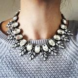 Vintage Inspired Clear Crystal Statement Necklace - MOD&SOUL Fashion Clothing and Jewelry - 3