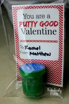 DIY Valentine, free printable and hot deal to order Putty, for your Putty good Valentine!