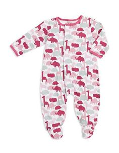 E=Mc Animal Print Footie  Pink Newborn