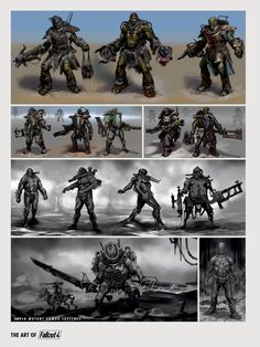 The Art of Fallout 4 - /// Vault 13 Fallout 4 Concept Art, Fallout Fan Art, Game Concept Art, Character Concept, Character Design, Fallout 3 Power Armor, Stranger Of Sword City, Fallout Tattoo, Conceptual Design