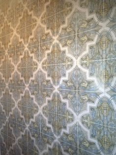 Strongly influenced by Moorish and Spanish design, the Isabella Mural by StoneImpressions beautifully depicts the feelings and influences of Mediterranean designs. Spanish Design, Mediterranean Design, Decorative Tile, Moorish, Tile Patterns, Tiles, Stone, Bathroom, Home Decor