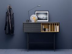SOLID WOOD CONSOLE TABLE WITH DRAWERS AURA S8 | TREKU