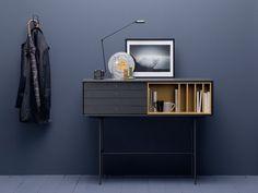 Mesa consola de madera maciza con cajones AURA S8 Colección Aura by TREKU | diseño Angel Martí, Enrique Delamo