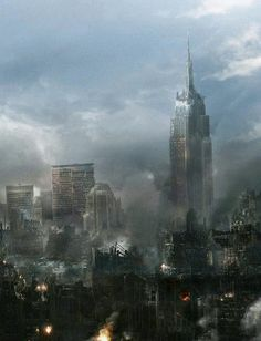 new york apocalypse post apocalyptic Art Science Fiction, Games Design, Post Apocalyptic City, Utopia Dystopia, Apocalypse Art, Apocalypse Landscape, Dystopian Future, Art Graphique, Story Inspiration