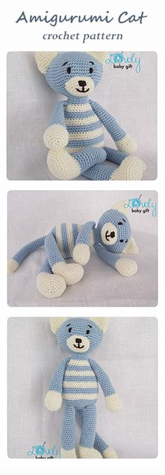 Amigurumi Pattern - kitty, cat, crochet pattern http://www.ravelry.com/patterns/library/kitty-cat-4