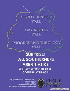 Creative poster project at S.C. UCC church drives home message of welcome, inclusivity