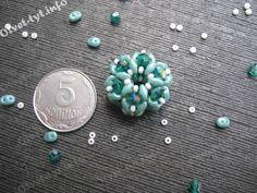 Плетеная бусина с широким отверстием из биконусов и SuperDuo. Мастер-класс. great pic tutorial