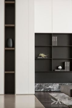 41 veces he visto estas agraciadas muebles minimalistas. Modern Interior, Interior Architecture, Interior And Exterior, Shelf Design, Cabinet Design, Tv Wall Design, Interiores Design, Future House, Interior Inspiration