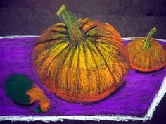fall still life...oil pastels