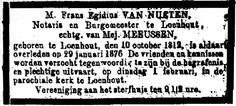Moord op notaris Van Nueten - Geschiedenis van Loenhout