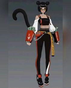 Mobile Legends, New Skin, Oriental, Punk, Wonder Woman, Fan Art, Superhero, Game, Fictional Characters
