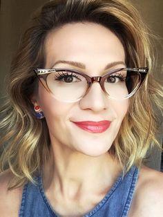 2020 Women Glasses Optical Glasses Cyclops Glasses Frame Without Lens – ffshoop Glasses Frames Trendy, Nice Glasses, Cat Eye Glasses, Girls With Glasses, Clear Eyeglass Frames, Style Rockabilly, Pin Up, Fashion Eye Glasses, Looks Vintage