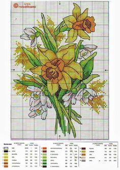 Raccolta schemi a punto croce- fiori di primavera