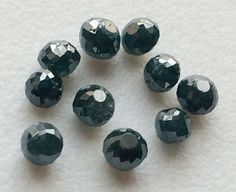 WHOLESALE 5 Pcs Blue Faceted Diamond Balls by gemsforjewels