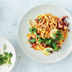 Squid and Fennel Pasta with Lemon and Herbs Recipe