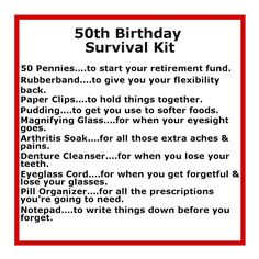 Funny 50th Birthday Kit Gifts For Men Diy Ideas