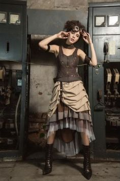 RQ-BL-Choker-Top-SET-Gothic-Steampunk-Pirates-Korsett-Shirt-LARP-Vintage-SP173
