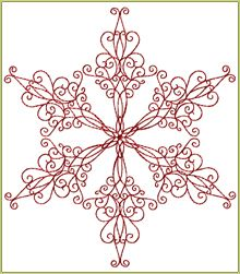 Snowflake Redwork 4