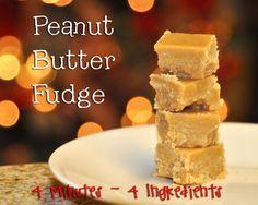 4 Minute Peanut Butter Fudge