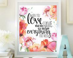 Love Inspirational Print Teen Room Decor digital print Dorm wall art Motivational Art romantic quotes love art 8x10 INSTANT DOWNLOAD ID74-74