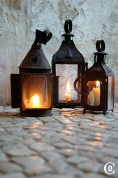 Reclaimed Portuguese Cobblestone and candlelight... yes, please!