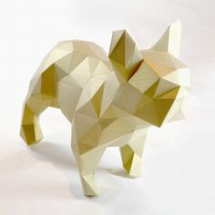 Dogo - DIY folding kit for a beautiful geometric low poly diamond style French Bulldog (5.00 EUR) by Imprimables