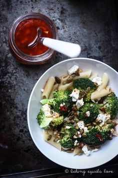 baking = love: Broccoli & Feta Harissa Salad with Spicy Roasted Pepita for Lucy