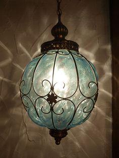 60S〜70'S ペンダントランプ/吊り下げランプ Lantern Lamp, Candle Lamp, Candle Lanterns, Light Well, Deco Boheme, Farmhouse Lighting, Pretty Lights, Custom Lighting, Light And Shadow